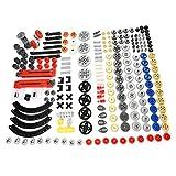 CALEN Technik Ersatzteile Bauset, 244 Teile Ersatzteile für Differential Lock Turntable Stoßdämpfer Baustein-Set, kompatibel mit Lego Technic