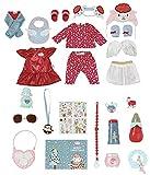 Zapf Creation 705445 Baby Annabell Advent Calendar - Puppenadventskalender mit 24 Überaschungen bestehend aus Kleidungsstücken und Accessoires für Baby Annabell