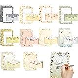 Briefpapiere und Briefumschlag,30 Stück Briefpapier-Set,Briefpapier Briefumschläge,Briefpapier mit Umschlag,Umschlägen/Briefpapier,Briefumschlägen und Schreibpapier,Briefumschlag Briefpapier Set