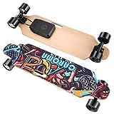Caroma Elektrisches Skateboard mit ferngesteuertem 700-W-Longboard-Motor, Elektro Skateboard mit DREI Geschwindigkeitsmodi, 37' tragbares E-Skateboard , Kick-Skateboard-Geschenke