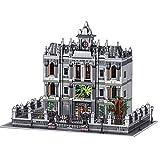 OIURV Arkham Asylum Modular Architektur, 7620 Klemmbausteine Kompatibel mit Lego, 3 Etagen Krankenhaus Irrenhaus Modular Haus