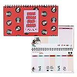 Cerdá Life Little Moments Kleiner Terminkalender mit Spiralbindung, Minnie Maus, offizielles Lizenzprodukt für Mädchen
