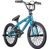 deTox Rude 20 Zoll BMX Fahrrad Bike Freestyle Street Park Rad Anfänger ab 140 cm 4 x Stahl Pegs 360° Rotor (Limited blau)