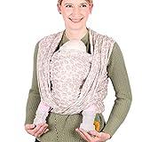 SCHMUSEWOLKE Tragetuch Baby Sommer Musselin Natur BIO-Baumwolle 70 x 485 cm Babysize-Toddlersize Neugeborene und Kleinkinder 0-24 Monate 3-16 kg Bauch- und Rückentragetuch