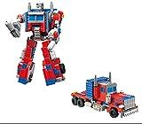 Modbrix Bausteine Optimus Transform Roboter Truck, 38 cm, Konstruktionsspielzeug, 377 Teile