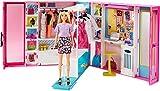 Barbie GBK10 - Traum Kleiderschrank mit blonder Barbie Puppe und über 25 Zubehörteilen, Spielzeug ab 3 Jahren