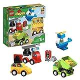 LEGO 10886 DUPLO Meine ersten Fahrzeuge, Bauset mit 4 baubaren Fahrzeugen für Kinder im Alter von 1,5 Jahren
