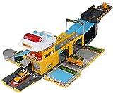Feuerwehrauto für Kinder, Simulation von Sound und Lichtverformung, Autospur / Parkplatz, mobiler Hauptsitz für Kinder, Baustellenfahrzeug, Farbbezeichnung: Feuerwehrauto JXNB (Farbe: Baufahrzeug)