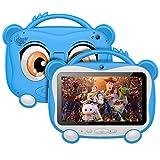 GOODTEL Tablet Kinder 7 '' Android 10.0 Tablet 16GB ROM, 2.4Ghz WiFi, Bluetooth 4.0, Doppelkamera 2MP, Training, Spiele, mit tragbarer Proof Silikonhülle für Kinder Geburtstagsgeschenk, Blau