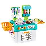 Think Gizmos Portable Kinder Küche – lustiges Kinder Spielzeug Set mit wechselnden Farben und Geräuscheffekten – Spielküche Plastik für Jungen und Mädchen (Spielzeug Küche)