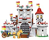 Kingdom Bausteine Ritterburg, Ritter Burg Bauset inkl. Ritter Figuren, 1180 Klemmbausteine