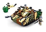 Sluban Klemmbausteine SL95718, WWII - Deutscher Jagdpanzer [M38-B0858], Spielset , Klemmbausteine, Soldaten, mit Spielfigur, Army WWII, bunt