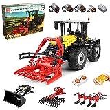 Technik Traktor Technic Ferngesteuert Traktor, Mould King 17019, 2596 Teile, mit 4 Motor, 4-in-1 Traktor Modell Groß Klemmbausteine Bausatz Kompatibel mit Lego Technic