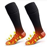 XTBL Beheizbare Socken Wiederaufladbare Batterie Heizsocken Einstellwärmeregler kann Thermosocken Beheizbare Socken beheizbare socken waschbar Heated Socks (beheizbare socken mit akku)