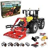 KEAYO Technik Traktor Ferngesteuert, Mould King 17019, 4-in-1 Traktor Modell Groß Klemmbausteine Bausatz Kompatibel mit Lego Technic