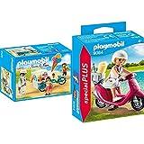 PLAYMOBIL 9426 - Fahrrad mit Eiswagen Spiel & Special Plus 9084 Strand-Girl mit Roller, ab 4 Jahren