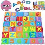 Deuba® 86 TLG Puzzlematte TÜV SÜD GS geprüft Kinderspielteppich Spielteppich Neues Modell 2021 Spielmatte XXL 190x190cm