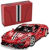 Italian Super Car 1:8, rot, 8-Zylinder, 3236 Teile (OHNE Motoren, kompatibel mit Lego Technic), C61043W CaDA Master, Designer Bruno Jenson