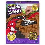 Kinetic Sand 6055874 - Dino Dig Spielset mit 10 versteckten Dinosaurierknochen zum Entdecken, für Kinder ab 6 Jahren