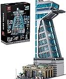 MOMAMO Architekturbausteine, 5883 Teile Hausklemme Bausteine Superhelden Turm mit Beleuchtung Baukasten Modulare Hausbausteine Kompatibel mit Lego 76038