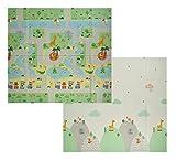 Velovendo® Faltbare XPE Baby Spielmatte - Schadstoffreie Krabbeldecke (XPE Tiere)