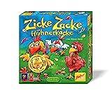 Zoch 601121800 Zicke Zacke Hühnerkacke – das rasante Memory-Gedächtnisrennen, Kinderspiel des Jahres 1998, 2 - 4 Spieler, für Jungen und Mädchen ab 4 Jahren