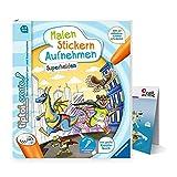 tiptoi Ravensburger Create Buch | Superhelden - Malen, Stickern, Aufnehmen + Kinder Wimmel Weltkarte