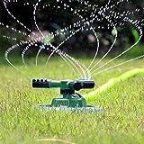 Garten-Sprinkler, 3 Wasserauslässe, große Fläche, automatischer Rasensprenger, 360 Grad, für Gartenpflanzen, Rasenbewässerung, Rasenbewässerung (Größe: 20 x 20 x 10 cm)