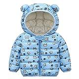 Gyratedream Cartoon Wintermantel Gepolsterte Jacken für Kinder Jungen Mädchen Bärenohr Mit Kapuze Warmes Outfit Baumwolle Gefütterter Mantel Outwear