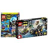 Lego Set - Batman vs. Joker: Verfolgungsjagd im Batmobil 76180 + Lego Batman Magazin Nr. 16 (Comics, Poster), mit extra Minifigur