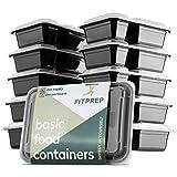 FITPREP® Original 2-Fach Meal Prep Boxen im praktischen 10er Pack - inkl. schönem Rezeptheft