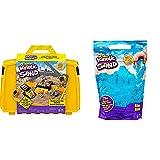 Kinetic Sand Baustellen Koffer mit 907 g Kinetic Sand & 907 g Beutel mit magischem Indoor-Spielsand blau