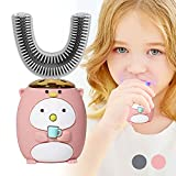 Stücke Kinder Elektrische Zahnbürste, Ultraschall Automatisch Bleaching Massage Zahnbürste U-typ Karikatur Modellieren Zahnbürste mit 2 Bürstenköpfen für Kind,6 to 11 Years Old