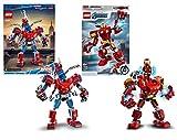 Legoo Lego Marvel Set: 76146 Spider-Man Mech + Avengers 76140 Iron Man Mech, ab 6 Jahren