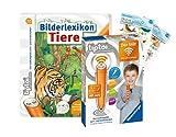tiptoi Ravensburger Set: Bilderlexikon Tiere + 00036 Der Stift - WLAN-Edition + 2X Create-Sticker