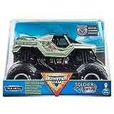 Monster Jam Offizieller Soldier Fortune Black Ops Monster Truck, Sammler Die-Cast Vehicle, Maßstab 1:24