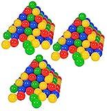 Knorrtoys 56790 - Bälleset - 300 bunte Plastikbälle/ Bälle für Bällebad im Karton, 6 cm Durchmesser, in Farbmischung blau / rot / gelb / grün, ohne gefährliche Weichmacher