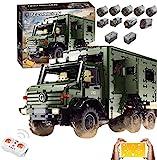 KEAYO Technik Wohnmobil Modell für Unimog U5000, Technik Offroad LKW mit Fernbedienung und 9 Motors, Groß Klemmbausteine Bausatz Kompatibel mit Lego Technic