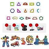 LWLEI Magnetische Bausteine Magnetblöcke Set Magnetspielzeug Konstruktion Fliesen Kid Kleinkinder 2D / 3D Shapes Baustein Set Kreative pädagogische Geschenke-200 stücke Song