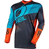 O'NEAL   Mountainbike Langarm-Shirt   Kinder   MTB DH FR Downhill Freeride   Atmungsaktives Material, Gepolsterter Ellbogenschutz   Element Youth Jersey Factor   Grau Orange Blau   Größe L