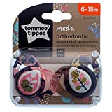 Tommee Tippee Moda Style Schnuller, Doppelpack, 6-18 m (Schmetterling)