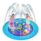 VATOS Splash Pad Sprinkler Play Matte Aktualisiert - 67 'Anti-Rutsch Sprinkler Wasser Spielmatte mit UFO-Design Sommer Garten Wasserspielzeug für Kinder 2 3 4 5 Jungen und Mädchen