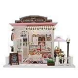 Miniatur Puppenhaus Kit, DIY Holz Puppenhaus Kit, 3D Holz Handgefertigt Zusammengebaut Mini Puppenhaus Kit, Schlafzimmer Küche Badezimmer Möbel Kit Geschenk Für Baby Kleinkinder Kind, Ohne Staubschutz