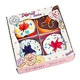 AGRIMONY Lustige Donut Socken Box - Lustig BunteCoole Geschenke für Frauen Damen Teenager Mädchen - Witzige GeschenkeWeihnachtenGeschenkideenFunnySocks-4 Paare