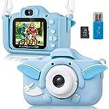 ELEPOWSTAR Kinderkamera, Digitalkamera 2,0 Zoll für Jungen Mädchen mit HD 1080P Videorecorder und 32 GB SD Spielzeug Geschenk für 3-10 Jahre alte (blau)