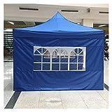 KENG Wasserdicht Zelt, 3x3m Camping-Zelt mit Zelt Tragbare Markise, Camping Seitenwand, Picknick Picknick Schuppen Abdeckung Draussen (Color : Red)