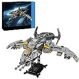 Bulokeliner Militär Flugzeug Modellbausatz , Kampfflugzeug der Sci-Fi-Serie MOC-QJ5005 Modell, 1182+ Teile Modellbausatz Kompatibel mit Lego
