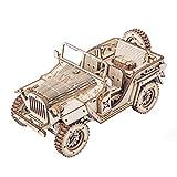 ROKR Spielzeug Holz Auto 3D Puzzle Model Jeep Handwerk DIY Selbstmontage Holzspielzeug Spielwagen