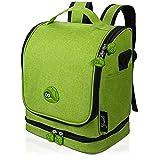 fridoli Kinderrucksack für Toniebox und Zubehör | grün | Akku Aufladen in der Toniebox Tasche | auch für Tigerbox Touch geeignet | Kita Rucksack