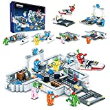 Mountainish Among Us Building Blocks, Space Alien Figuren Peluche Game Modell Kit Ziegel Klassische Kinderspielzeug für Kinder Geschenk Mini-Statuen, unter Uns Game-Modell. (6in1)